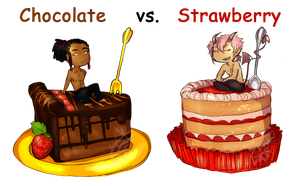 Chocolate Vs. Strawberry by Xuiology
