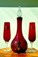 Red Wine Glasses and Decanter Stock by jojo22