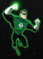 Green Lantern Animated test by LucianoVecchio