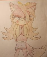 Fiona the fox (Team Elite ver.)  in sara's outfit by frostbite15071