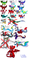 A Bunch Of Left Over Adopts [CLOSED] by LavaSpinosaurus
