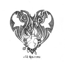 tribal heart design by burstintoflame