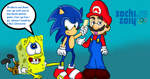 SpongeBob wants to go to Sochi with Sonic by DarkraDx