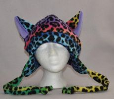 Limited Edition Rainbow Multi-Color Cat Hat by wikiwisemandotcom