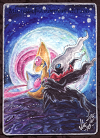 Lunar Duo ACEO by Sysirauta