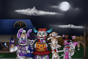 Trick or Treaters by LuckyGoldRabbit
