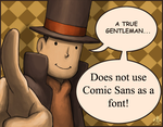 A True Gentelman - Comic San by YukiMizuno