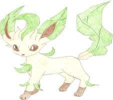 Leafeon, sixth eeveelution by hellogoodbye1121