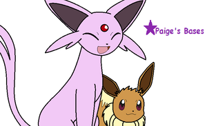 Espeon And Eevee Base by Paige-the-unicorn