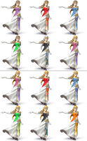 Zelda SSB4 Recolors by shadowgarion