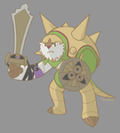 Chesnaught and Aegislash by Pyritie