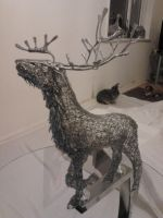 Stag Sculpture wip update 8 by braindeadmystuff