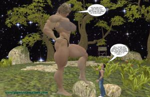 Giantess Amazons - Preview - Warrior and Pet by Falcon3D