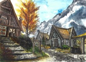 Whiterun (Watercolor) by Aronja