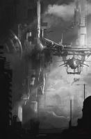 Greyscale Thumbnail 2 Sci-Fi by Shue13