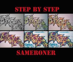 step by step by sameroner