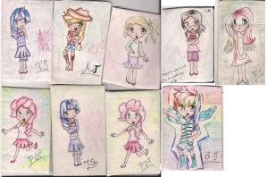 My little pony cards and more by rachphil