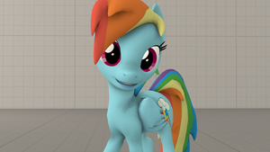 SFM - Rainbow Dash posing and smiling by GAMEKING122