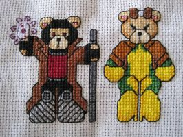 Cross Stitch Gambit + Rogue by LeeAlexis