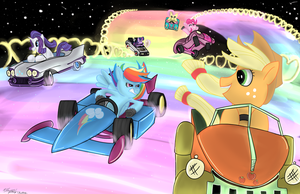Rainbow Road Pony Kart by MXCoriginal