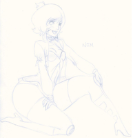 NIM in a Jumpsuit_Sketch by kogaswolftribebabe