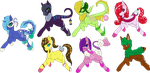 Mixsed Species Pony Adopts Open by HamsterFluf