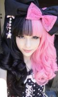Black and Pink Lolita Wigs, cool by christmasle