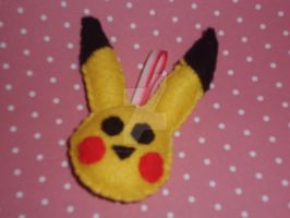 Pikachu key-chain! ^.^ by Mandy-Lou-Plushies
