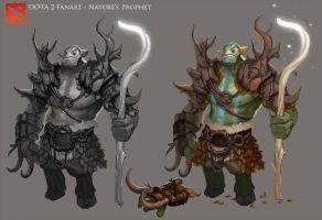 DOTA 2 - Nature's Prophet Armor Design by Nerd-Scribbles