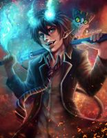 Blue Exorcist by shobey1kanoby