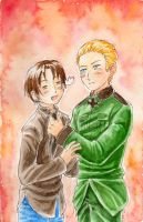 Hetalia - Fixing His Tie by sammich