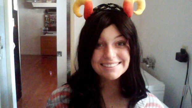 New Wig (and a friends horns) by Londonatheart1475