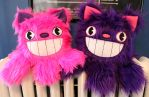 Pink and Purple Cheshire Catopi by loveandasandwich