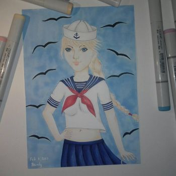 Sailor girl  by SandHourglass