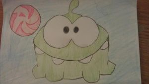 Cut the rope Om Nom by superpoof