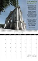 Saint Boniface Cathedral Calendar May by Joe-Lynn-Design