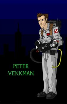 Peter Venkman by johnnysparks
