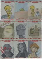 TOPPS Star Wars cards, pt. 7 by katiecandraw