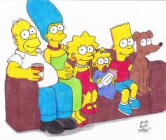 Couch Gag Simpsons by Crash2014