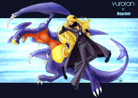 [Collab] Cynthia and Garchomp by Haychel