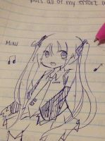Miku sketch by Rmblee