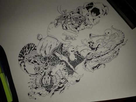 Drawing started but not finished by Piazdrawings