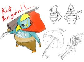 Riot Penguin by KindCoffee