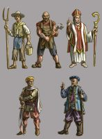 Fantasy or medieval figures by OllyTyler