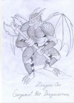 Dragon-Orc Drawing by DrBiotox