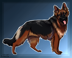 German Shepherd Design - Kiriban Prize by ForgottenAmnesty
