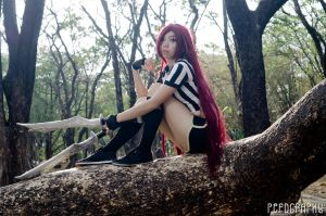 League of Legends: Red Card Katarina Cosplay by kitzc