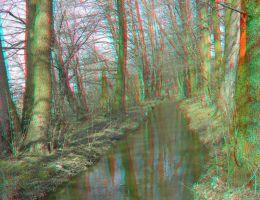 River 3D Anaglyph by yellowishhaze