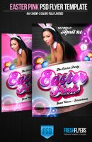 Easter Pink PSD Flyer Template by ImperialFlyers