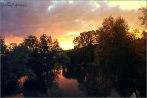 Sunset on the Loire river by ShlomitMessica
